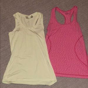 2 athletic tank tops